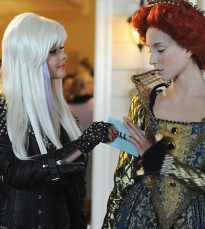 alison as lady gaga and spencer as mary queen of scots