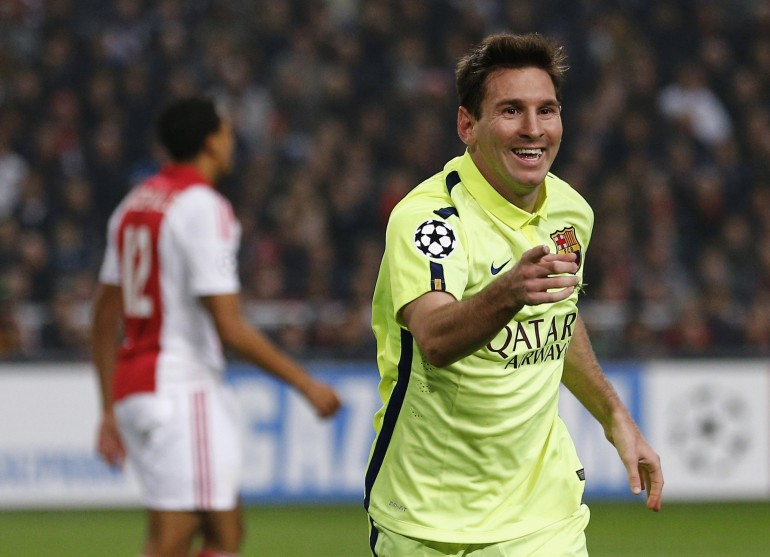 b20a9a1964c Champions League: Barcelona Defeats Ajax 2-0, Behind Double By Messi [VIDEO]