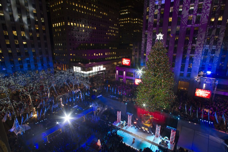 The tree is seen during the 81st Annual Rockefeller Center Christmas Tree Lighting Ceremony in New York. Reuters & Christmas In Rockefeller Centeru0027 2014 Premiering Live On NBC: Find ...