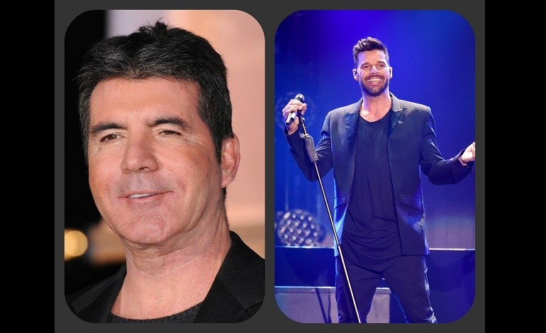 Ricky Martin and Simon Cowell