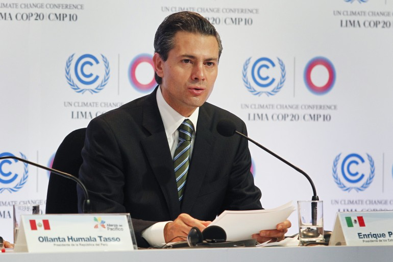 Enrique Pena Nieto climate speech