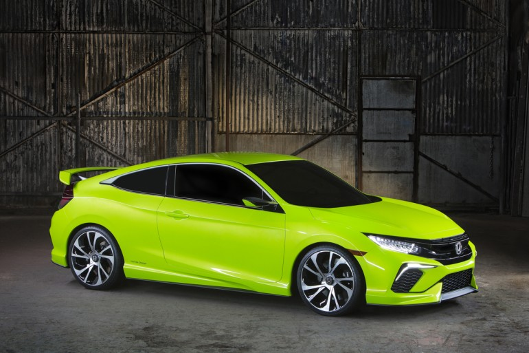 The 2016 Honda Civic Coupe Concept unveiled at the NY Auto Show. Honda