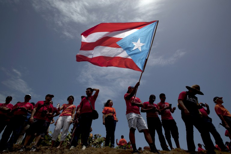 puerto rico flag students