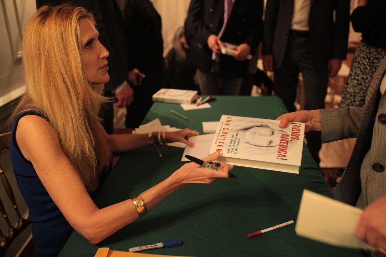 Ann Coulter signs book fan #1