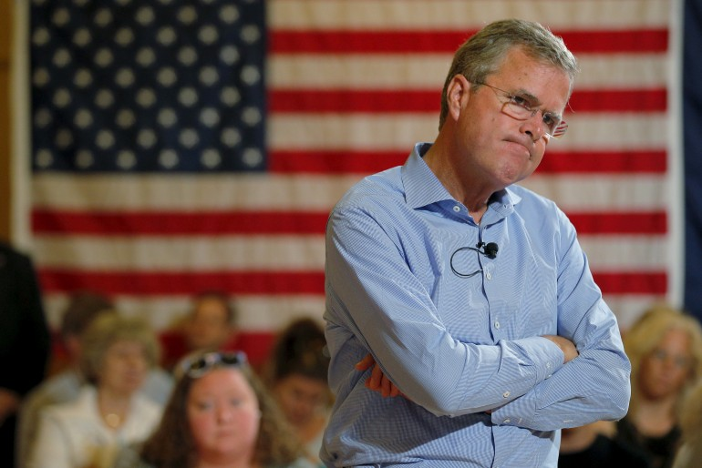 jeb bush shrugs