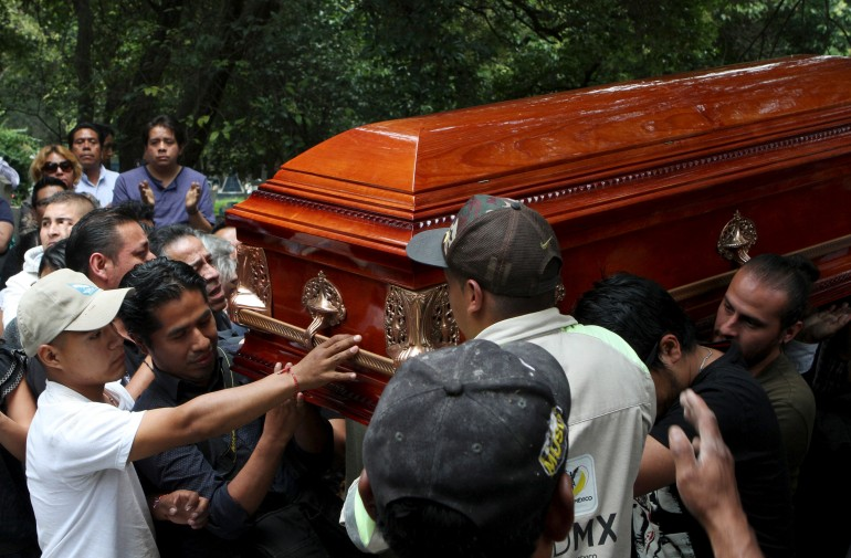 mexico journalist funeral