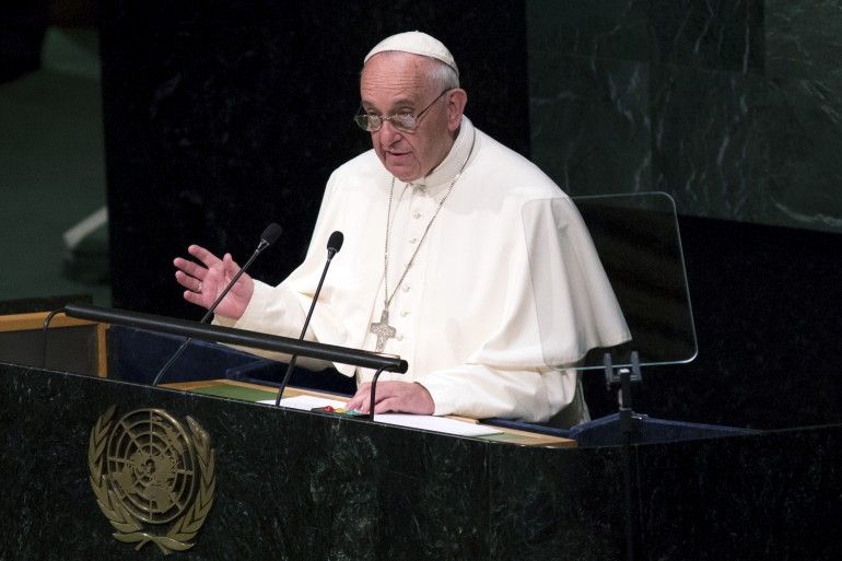 pope francis drug war united nations