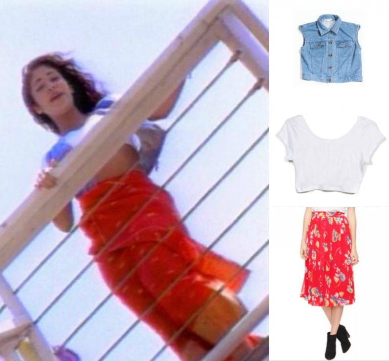 Selena Quintanilla Red Dress In Movie