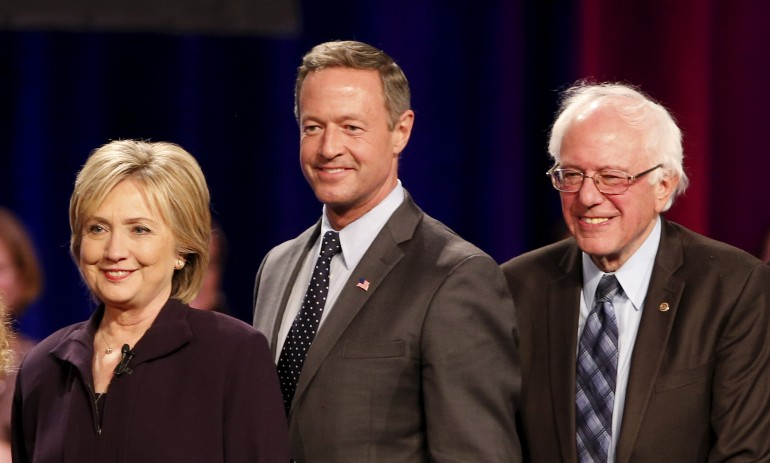 clinton, o'malley, sanders
