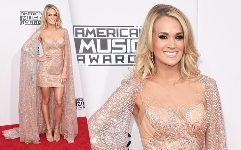 American Music Awards 2015 Red Carpet Photos: Carrie Underwood