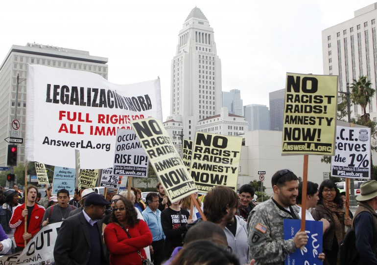 immigrant protest los angeles