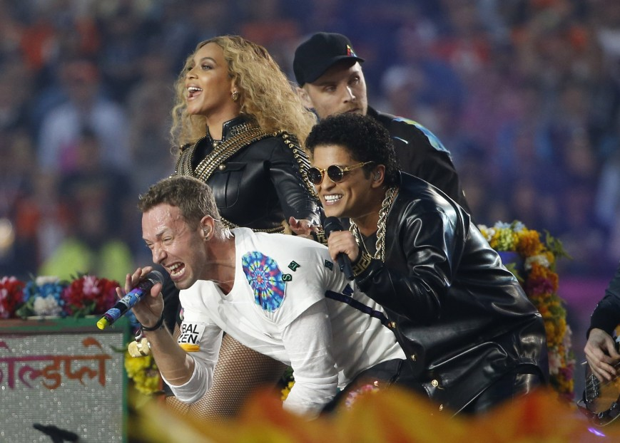 The Three Musketeers: Beyonce, Chris Martin and Bruno Mars
