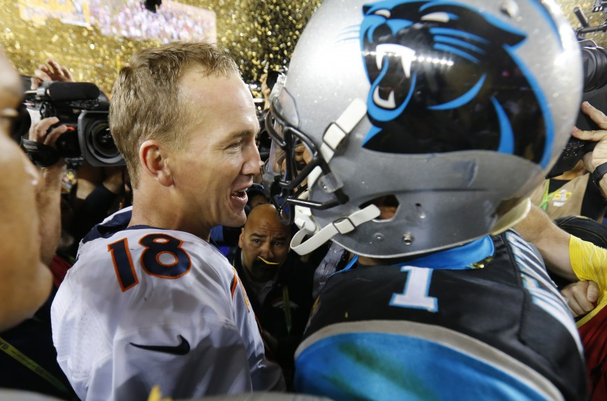 Two NFL MVPs meet at the 50-yard line After the Game