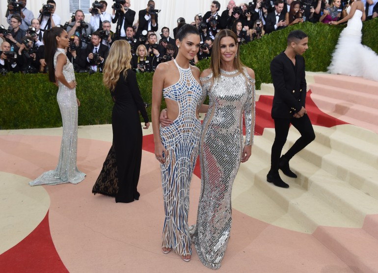 Kendal Jenner and Cindy Crawford