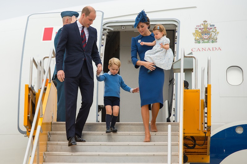 Prince William, Prince George, Kate Middleton and Princess Charlotte