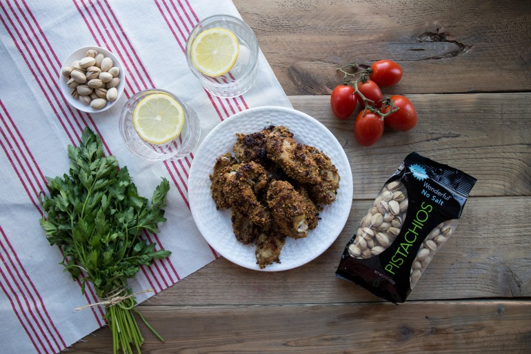 Pistachio Crusted Chicken Wings