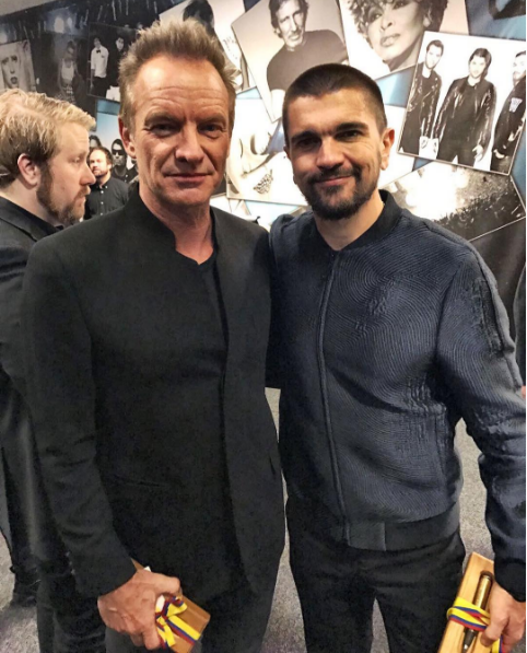 ¿Cuánto mide Juanes? - Altura - Real height Sting-and-juanes