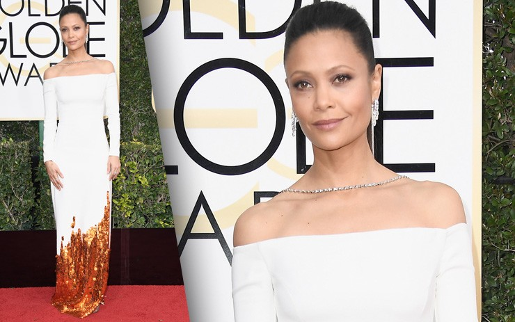 Golden Globes 2017 Red Carpet Photos: Thandie Newton
