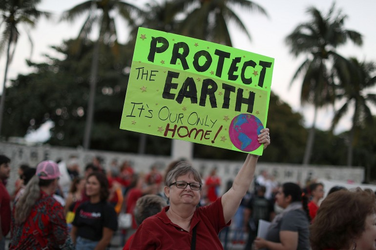 Earth Day Protester