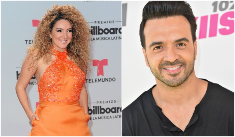 Erika Ender and Luis Fonsi