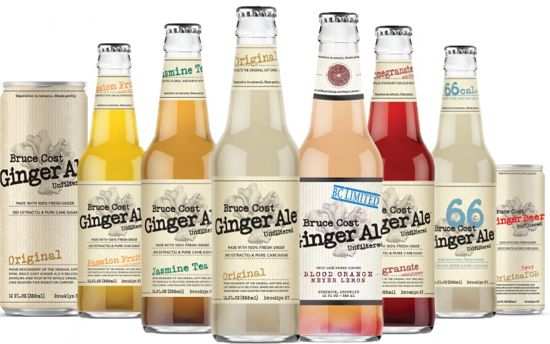 Bruce Cost Ginger Ale and Brooklyn Organics