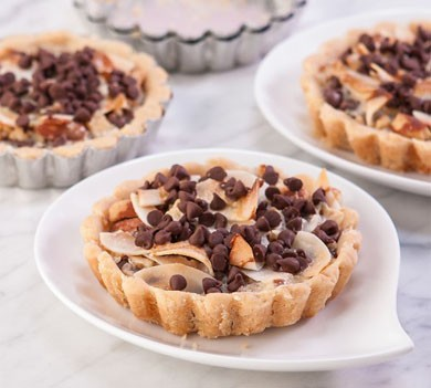 chocolate Coconut Almond Tiny Tarts