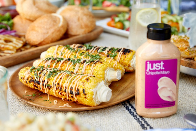 Summer BBQ Grilled Corn w Chipotle Mayo