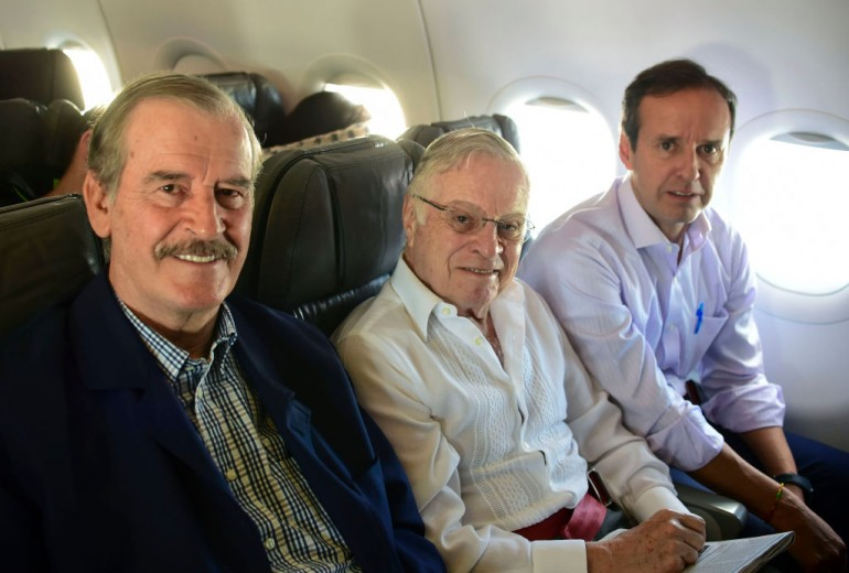 Former presidents of Mexico, Costa Rica and Bolivia, Vicente Fox, Miguel Angel Rodriguez and Jorge Quiroga