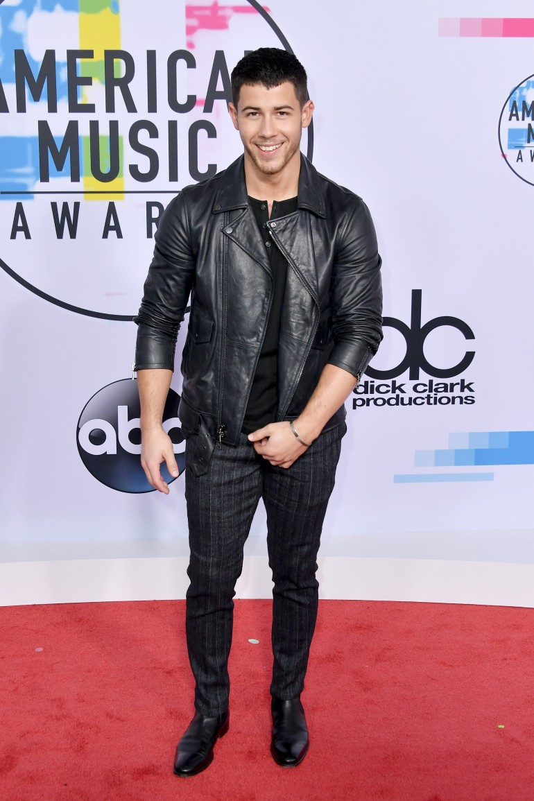 AMAs 2017 Red Carpet Photos: Nick Jonas
