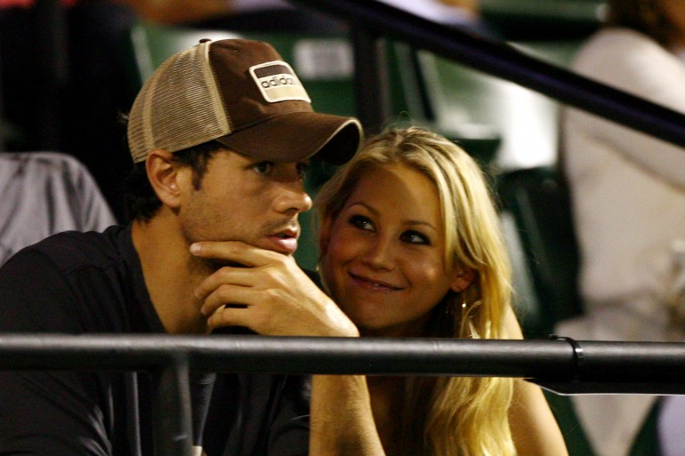 Enrique Iglesias and girlfriend Anna Kournikova