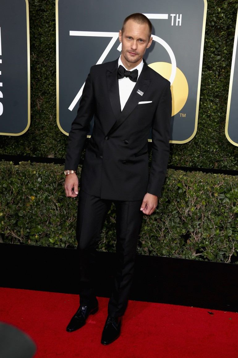 Golden Globes 2018 Red Carpet Photos: Alexander Skarsgard