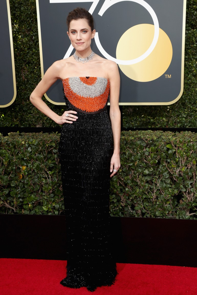 Golden Globes 2018 Red Carpet Photos: Allison Williams