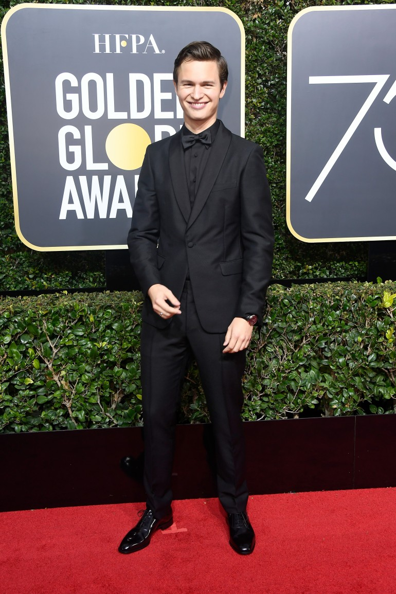 Golden Globes 2018 Red Carpet Photos: Ansel Elgort