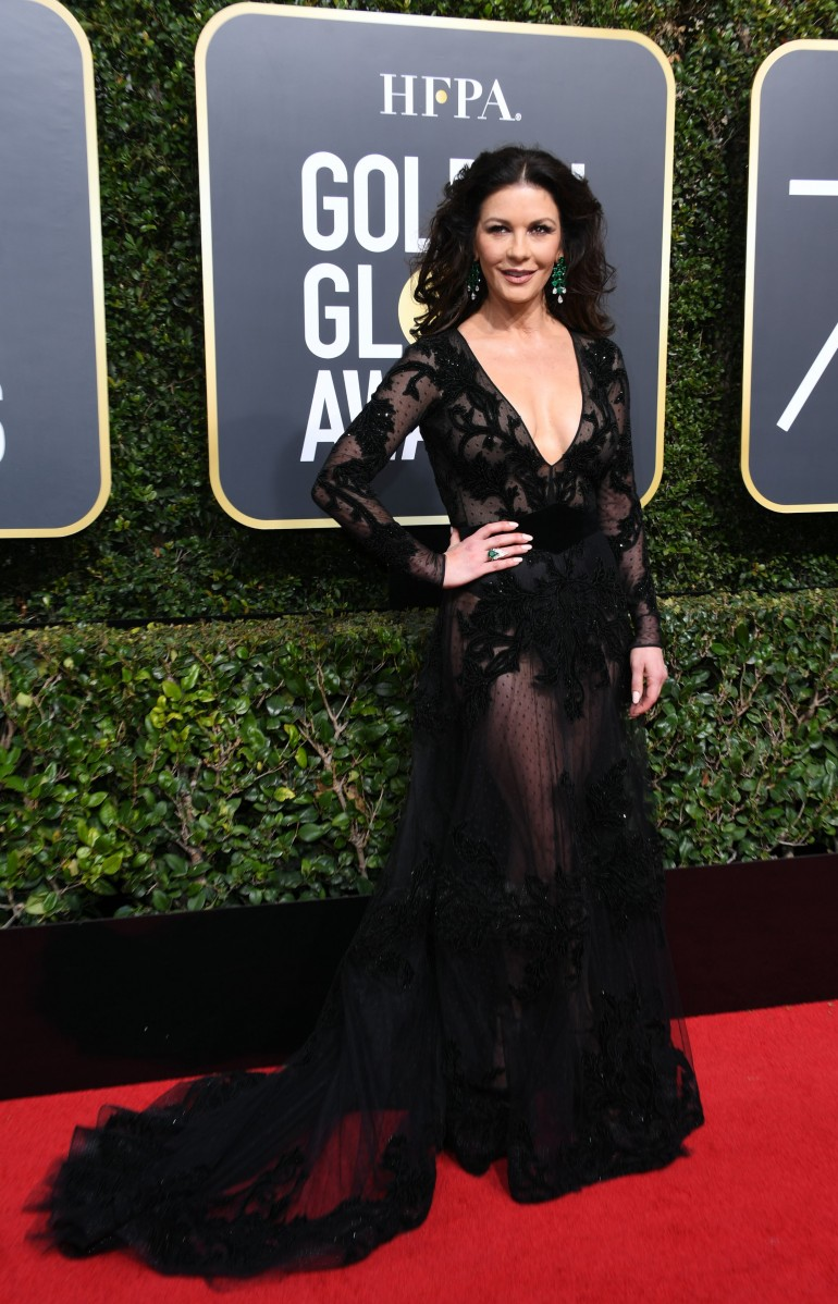 Golden Globes 2018 Red Carpet Photos: Catherine Zeta Jones
