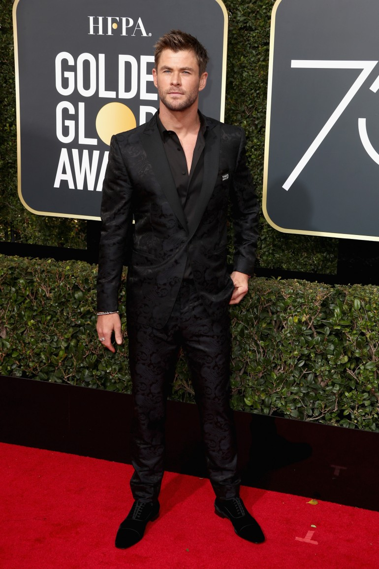 Golden Globes 2018 Red Carpet Photos: Chris Hemsworth