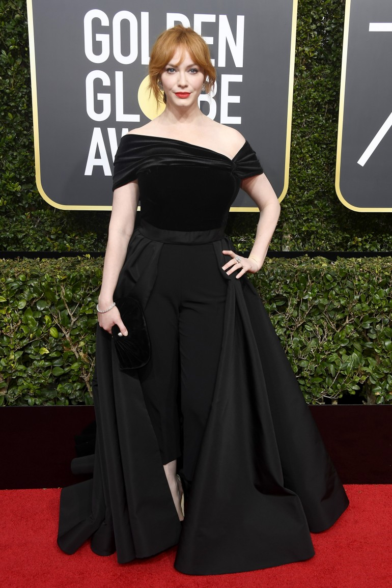 Golden Globes 2018 Red Carpet Photos: Christina Hendricks
