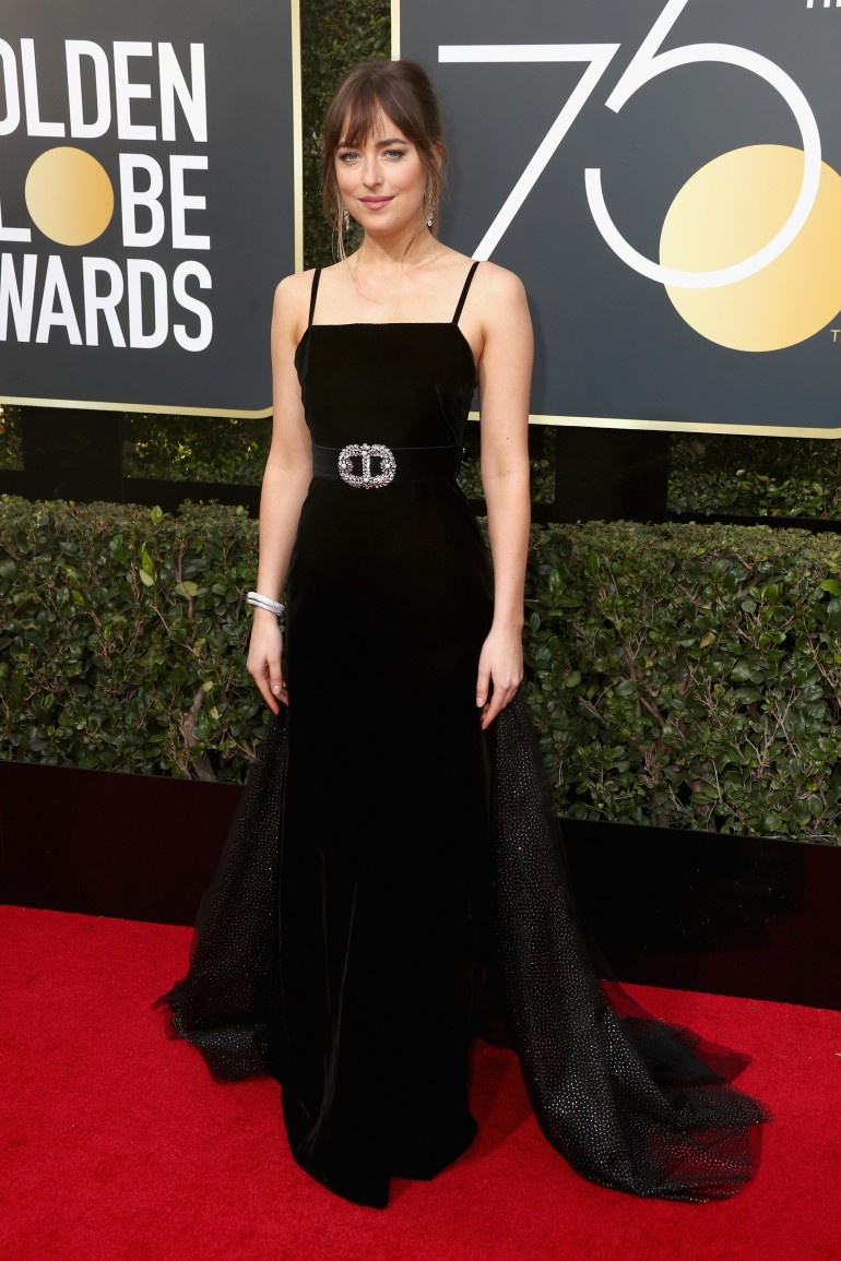 Golden Globes 2018 Red Carpet Photos: Dakota Johnson