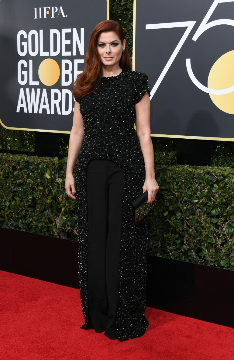 Golden Globes 2018 Red Carpet Photos: Debra Messing