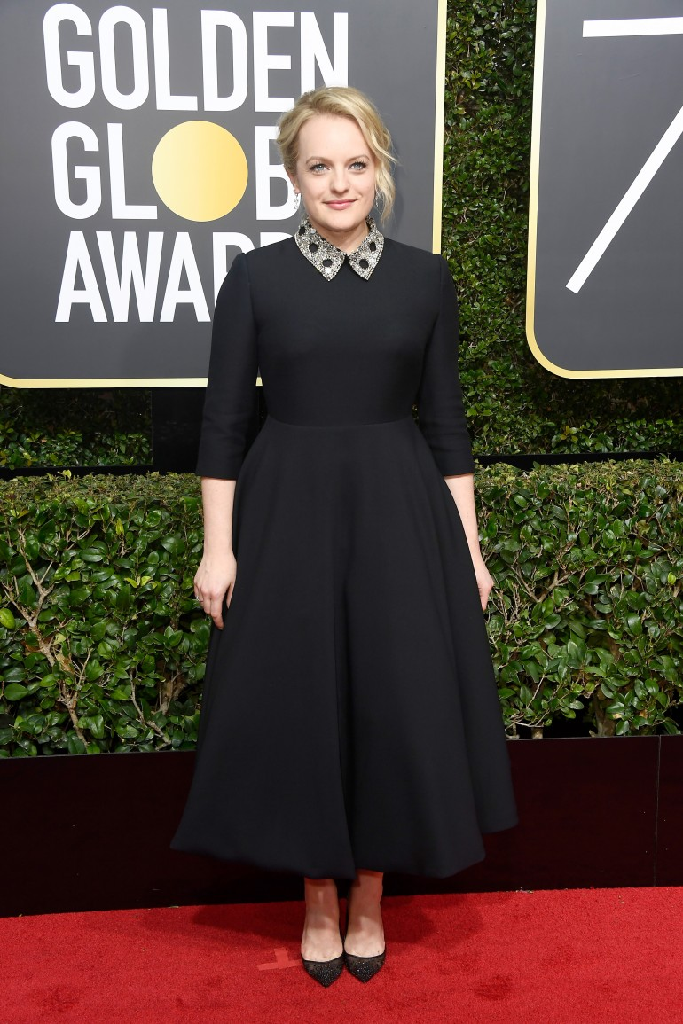 Golden Globes 2018 Red Carpet Photos: Elisabeth Moss