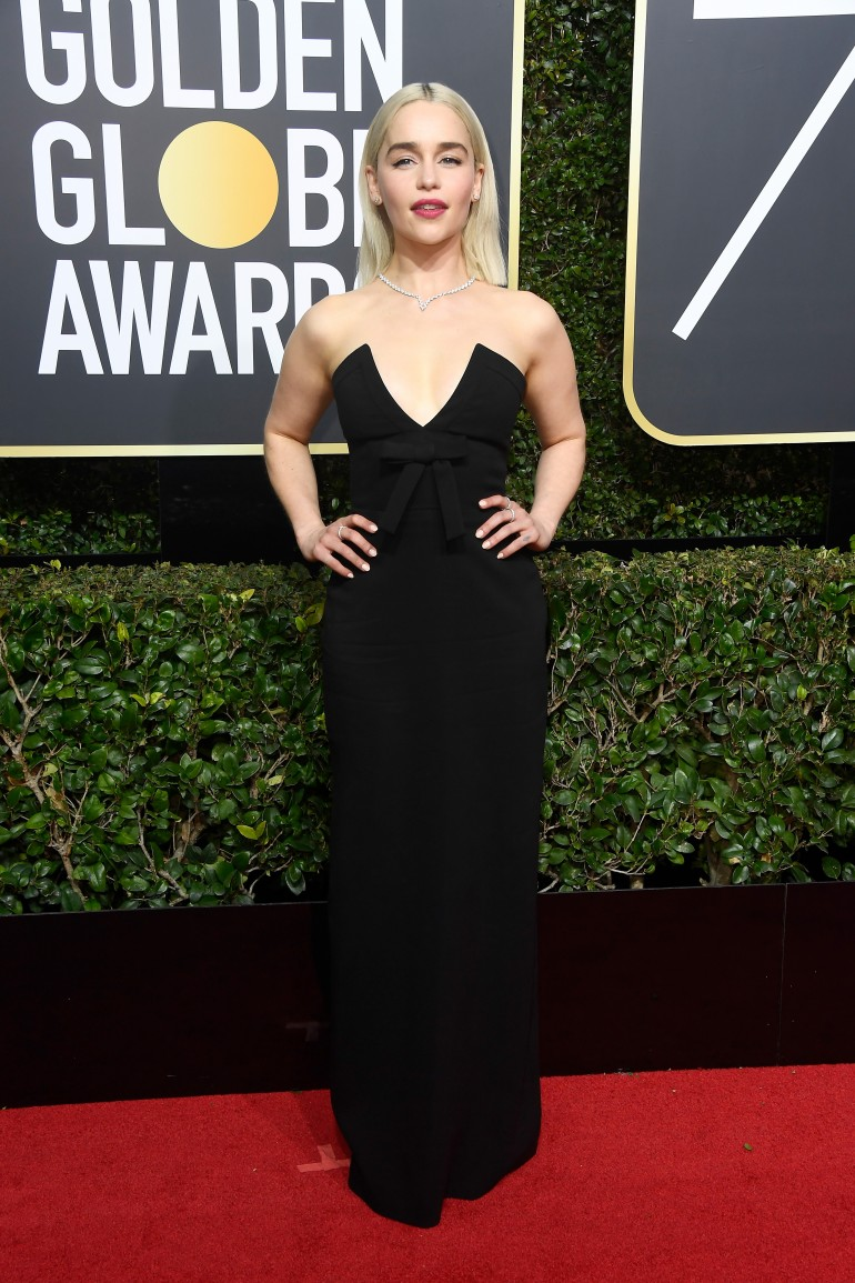 Golden Globes 2018 Red Carpet Photos: Emilia Clarke