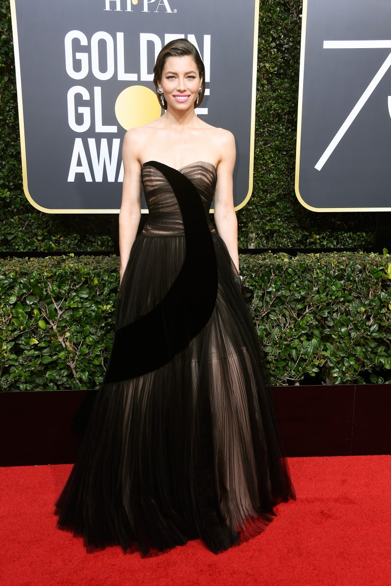 Golden Globes 2018 Red Carpet Photos: Jessica Biel