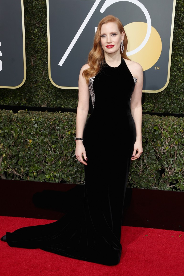 Golden Globes 2018 Red Carpet Photos: Jessica Chastain