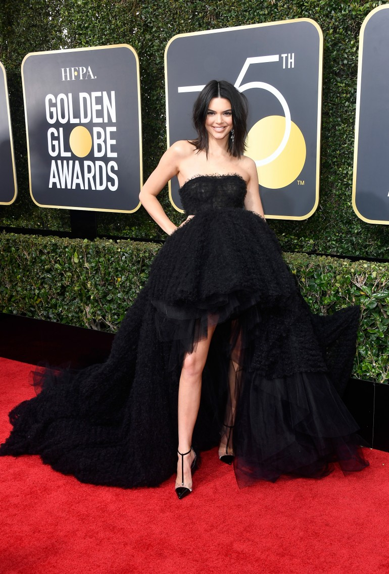 Golden Globes 2018 Red Carpet Photos: Kendall Jenner