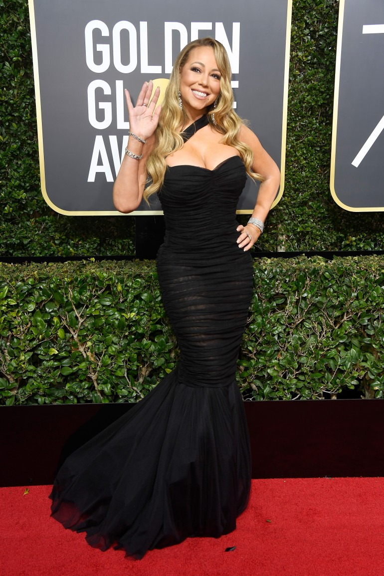 Golden Globes 2018 Red Carpet Photos: Mariah Carey