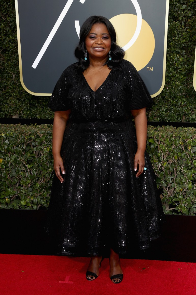 Golden Globes 2018 Red Carpet Photos: Octavia Spencer