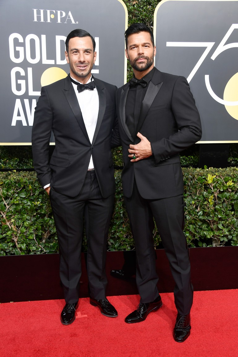 Golden Globes 2018 Red Carpet Photos: Ricky Martin, Jwan Yosef