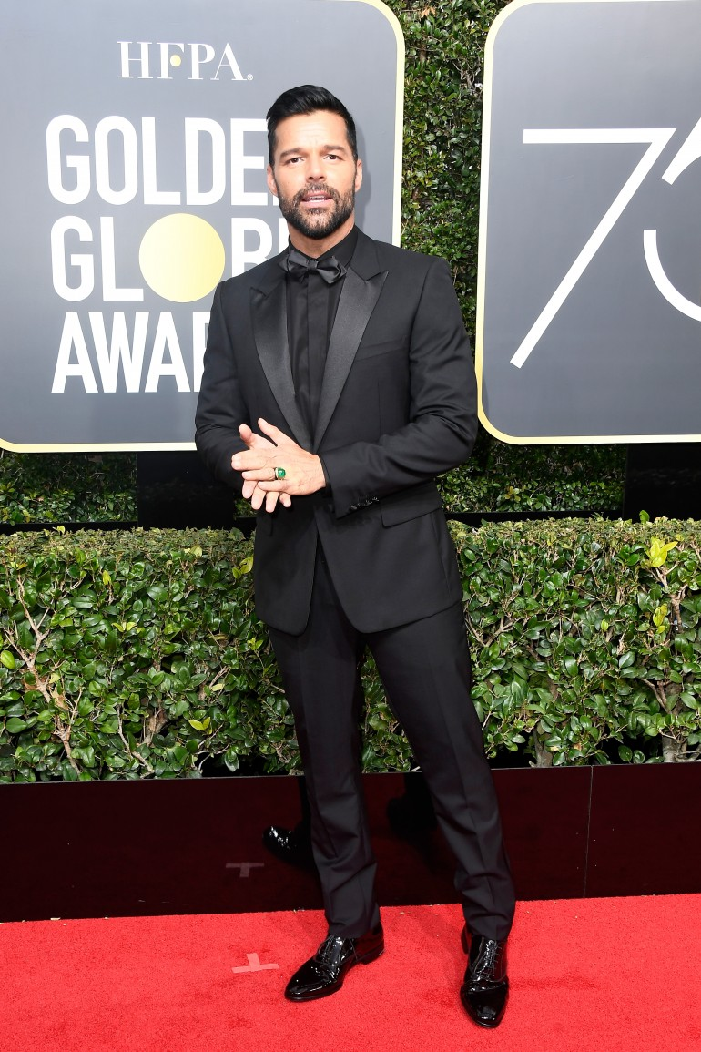 Golden Globes 2018 Red Carpet Photos: Ricky Martin