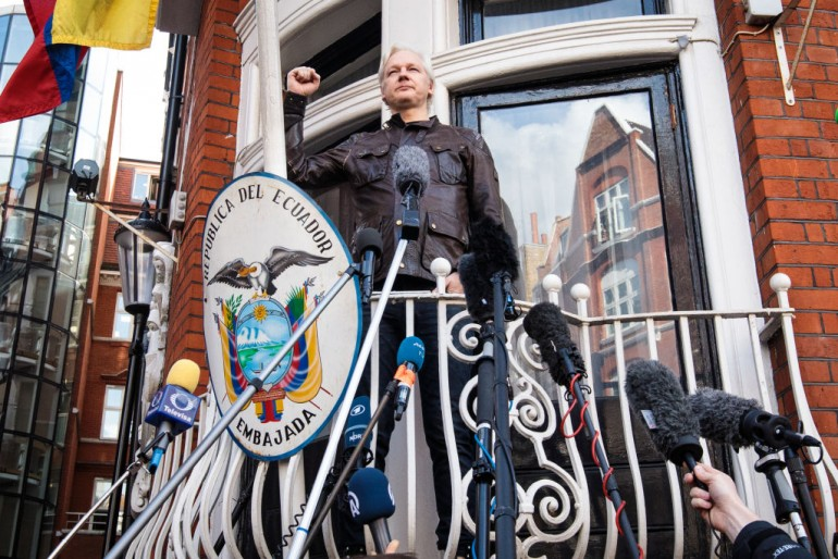 Julian Assange denied diplomatic status by UK