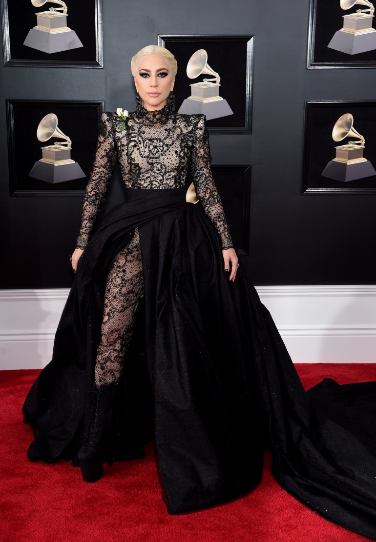 Grammys 2018 Red Carpet Photos: Lady Gaga
