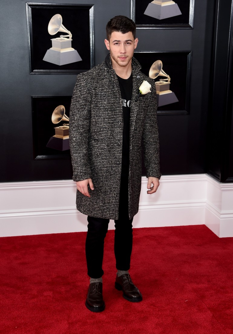 Grammys 2018 Red Carpet Photos: Nick Jonas